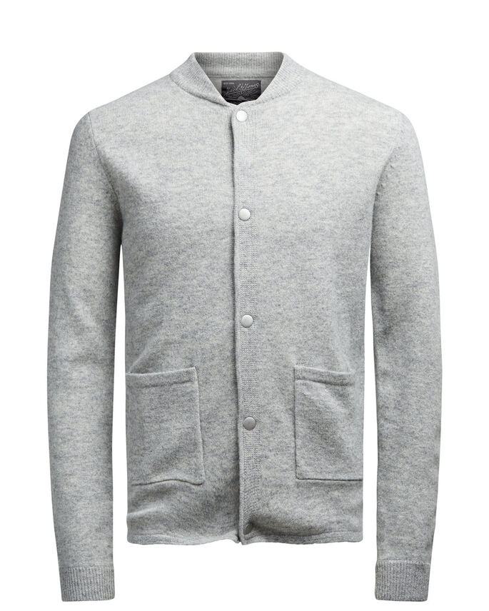 ULD CARDIGAN, Light Grey Melange, large