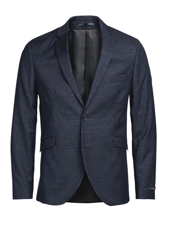 FLECKED BLAZER, Dark Navy, large
