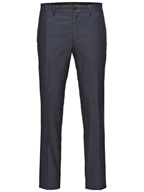CHEQUERED SLIM FIT SUIT PANTS