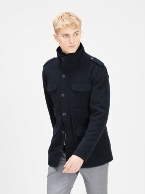 HIGH NECK WOOL BLEND JACKET
