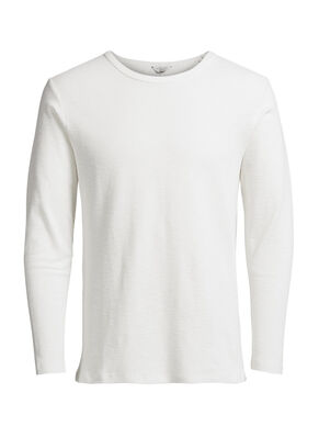 TEXTURED LONG-SLEEVED T-SHIRT
