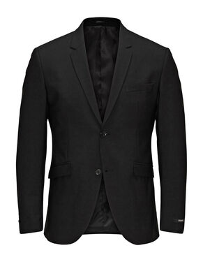 BLACK REGULAR FIT BLAZER
