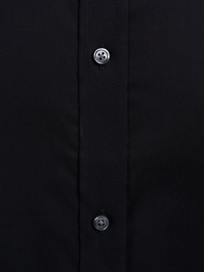 BUTTON-UNDER- LANGARMHEMD, Black, large