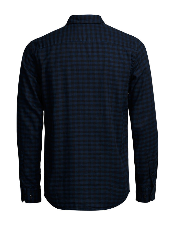 GERUITE FLANEL CASUAL OVERHEMD, Total Eclipse, large
