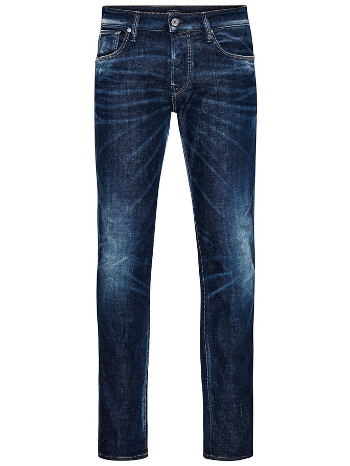 CLARK ICON BL 566 REGULAR FIT JEANS, Blue Denim, large