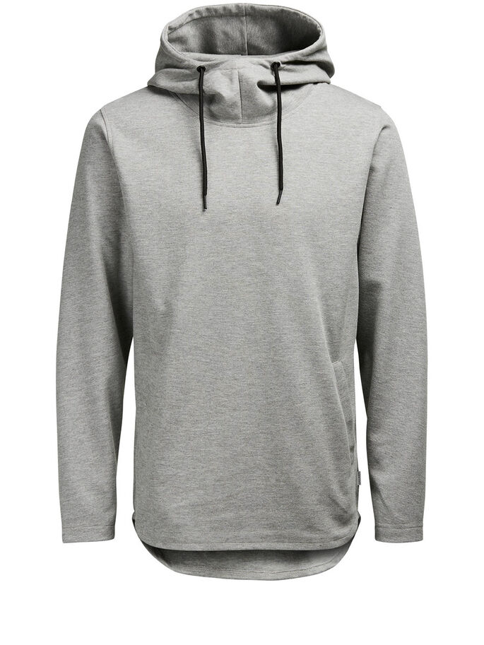 HØJHALSET HOODIE, Light Grey Melange, large