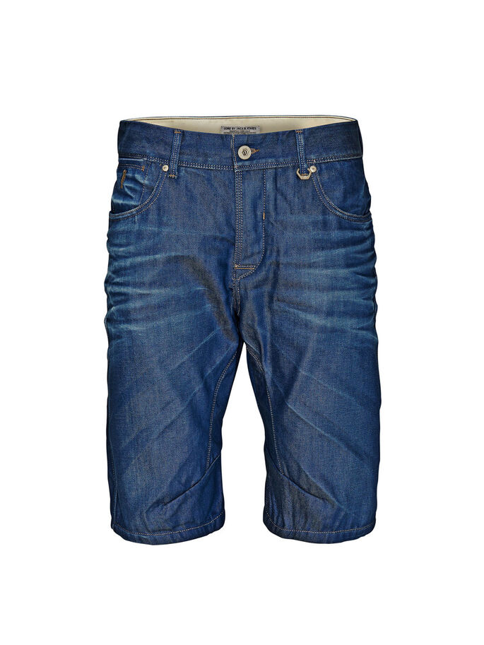 MORGAN JJ 850 LÅNGA JEANSSHORTS, Blue Denim, large