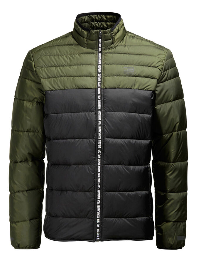 QUILTED JACKET, Forest Night, large