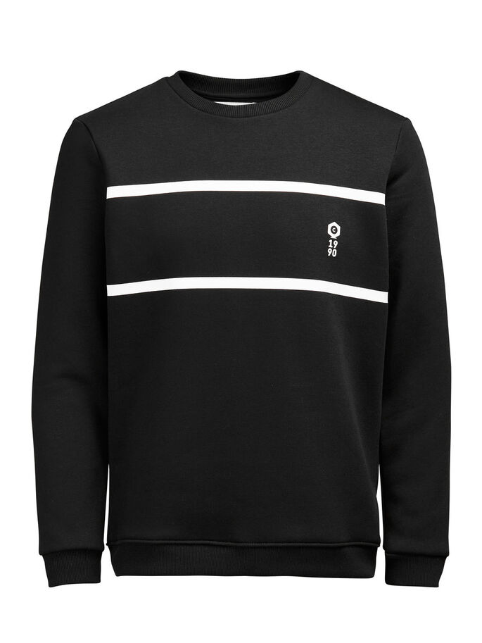 CONTRAST SWEATSHIRT, Black, large