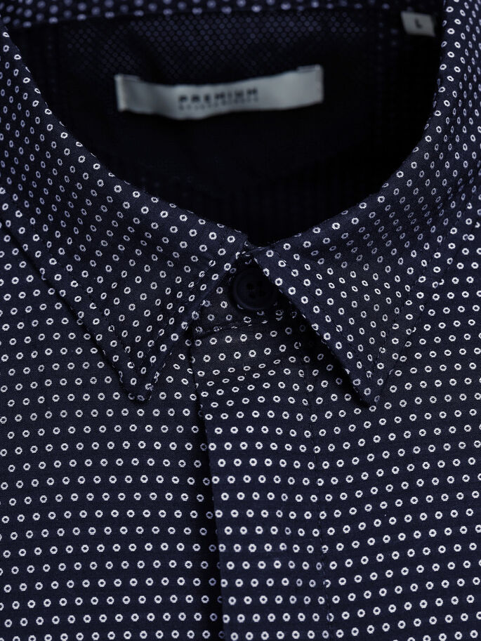 PATTERNED BUSINESS SHIRT, Dark Navy, large