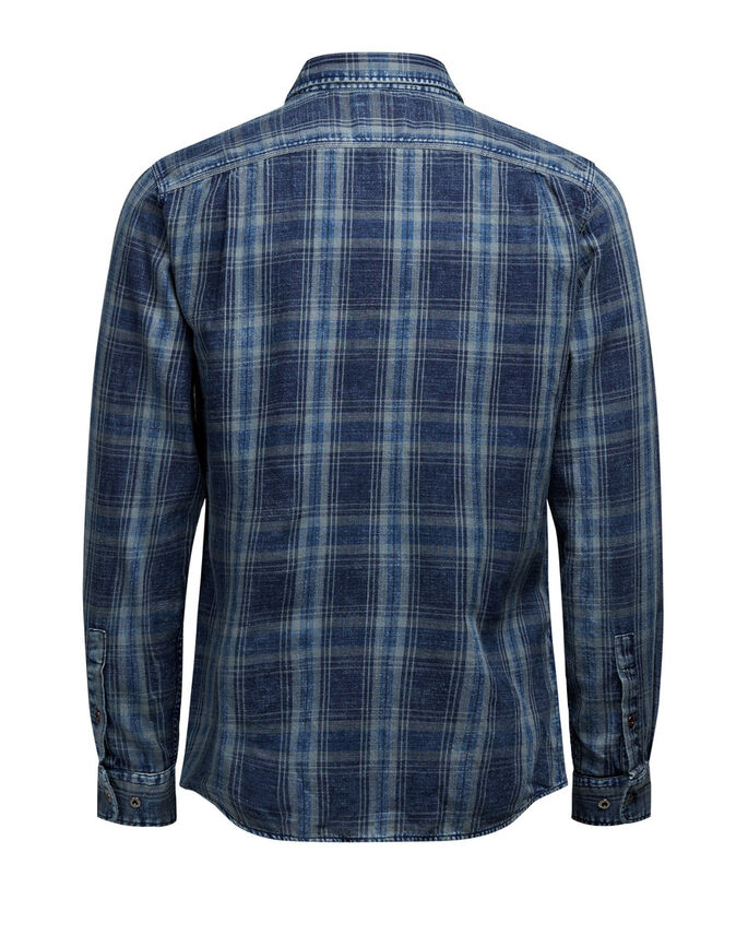 CHECKED UTILITY LONG SLEEVED SHIRT, Total Eclipse, large
