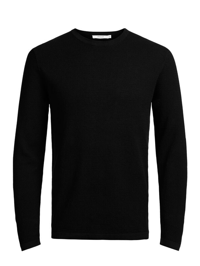 MICRO STRUCTURE PULLOVER, Black, large