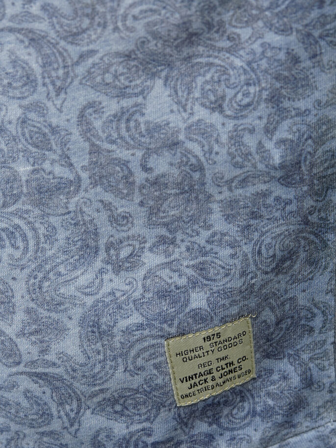 PAISLEY T-SHIRT, Light Blue Denim, large