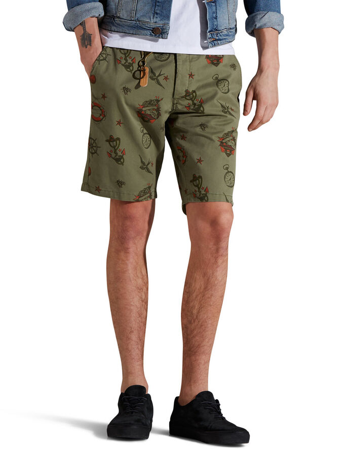 TATTOO AKM 230 CHINOSHORTS, Deep Lichen Green, large