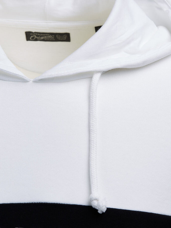 CASUAL HOODIE, White, large