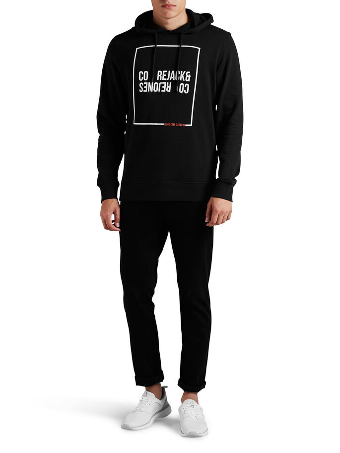 GRAPHIC HOODIE, Black, large