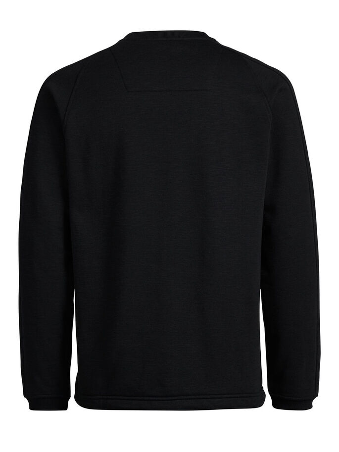 ZIP POCKET SWEATSHIRT, Black, large