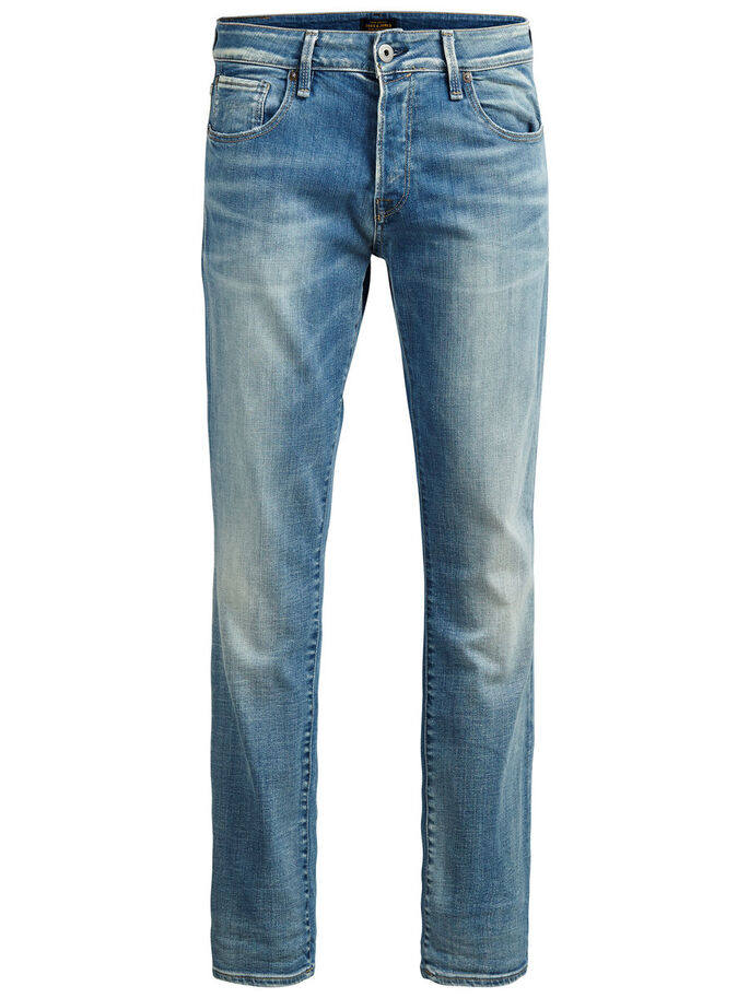 CLARK ICON BL 597 REGULAR FIT JEANS, Blue Denim, large