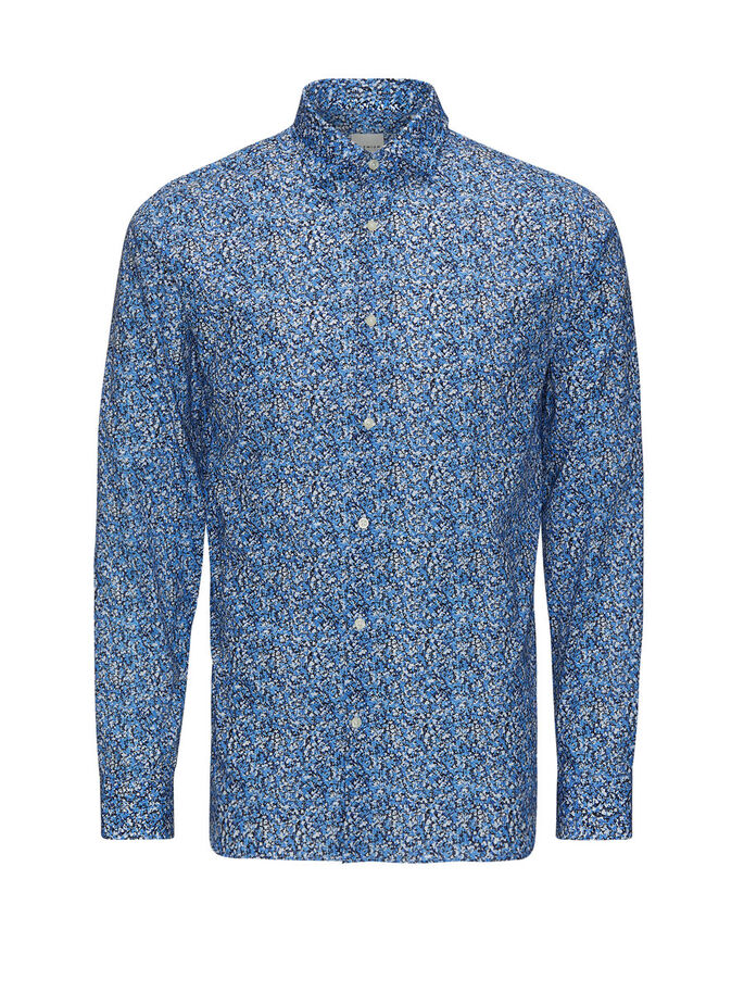 ALL-OVER PRINT LONG SLEEVED SHIRT, Kentucky Blue, large