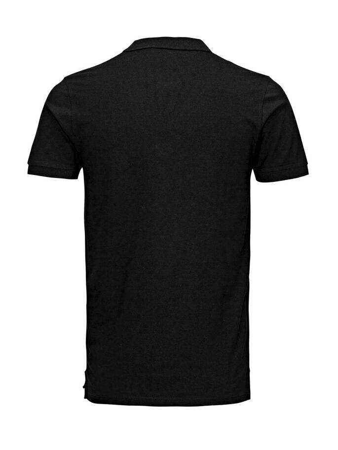 KLASSISCHES POLOSHIRT, Black, large
