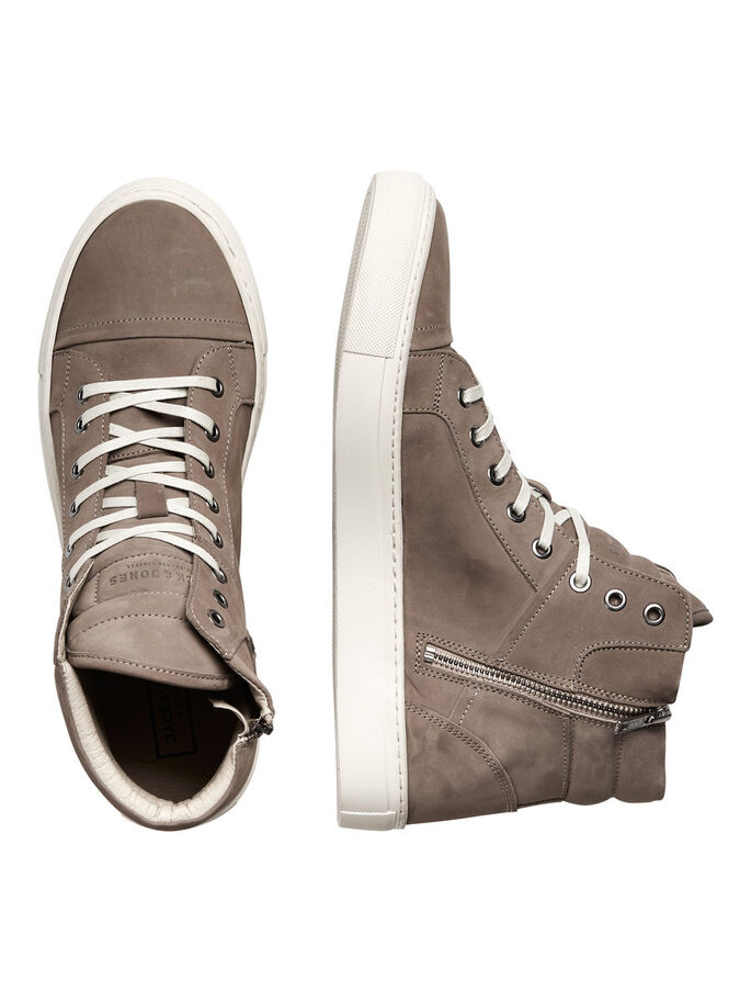 HIGH TOP SHOES, Taupe Gray, large
