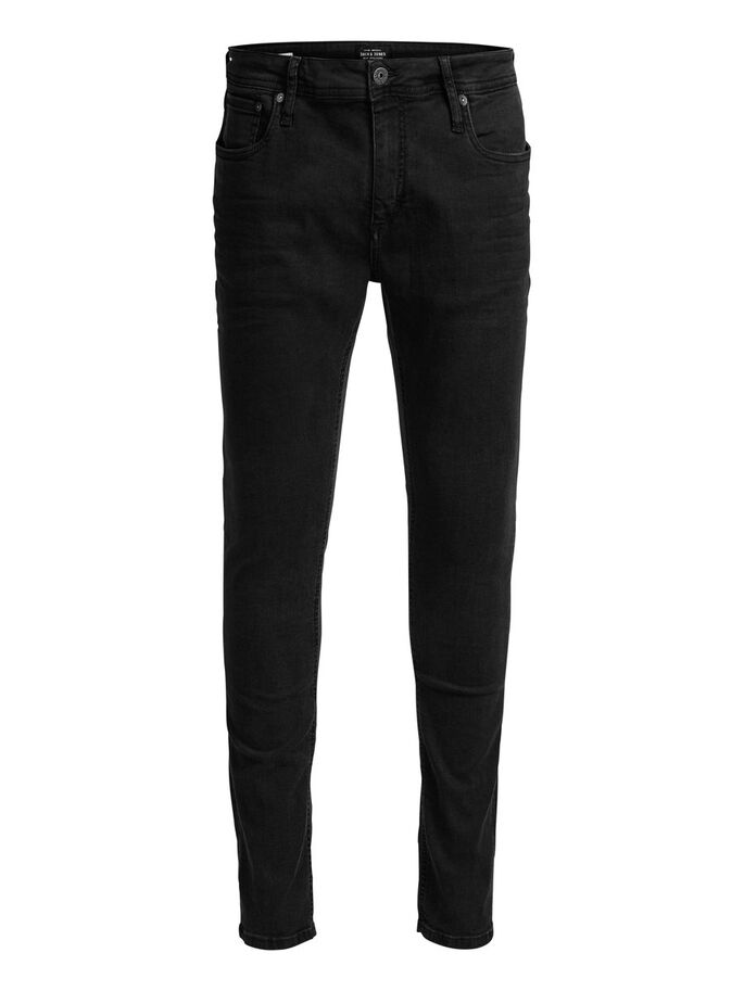 LIAM ORIGINAL JOS 188 SKINNY FIT JEANS, Black Denim, large