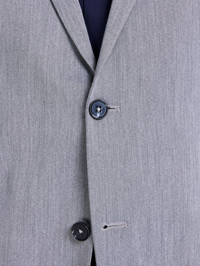 GRÅMELERT BLAZER, Light Grey Melange, large