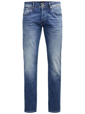 BLUE DENIM SLIM FIT JEANS