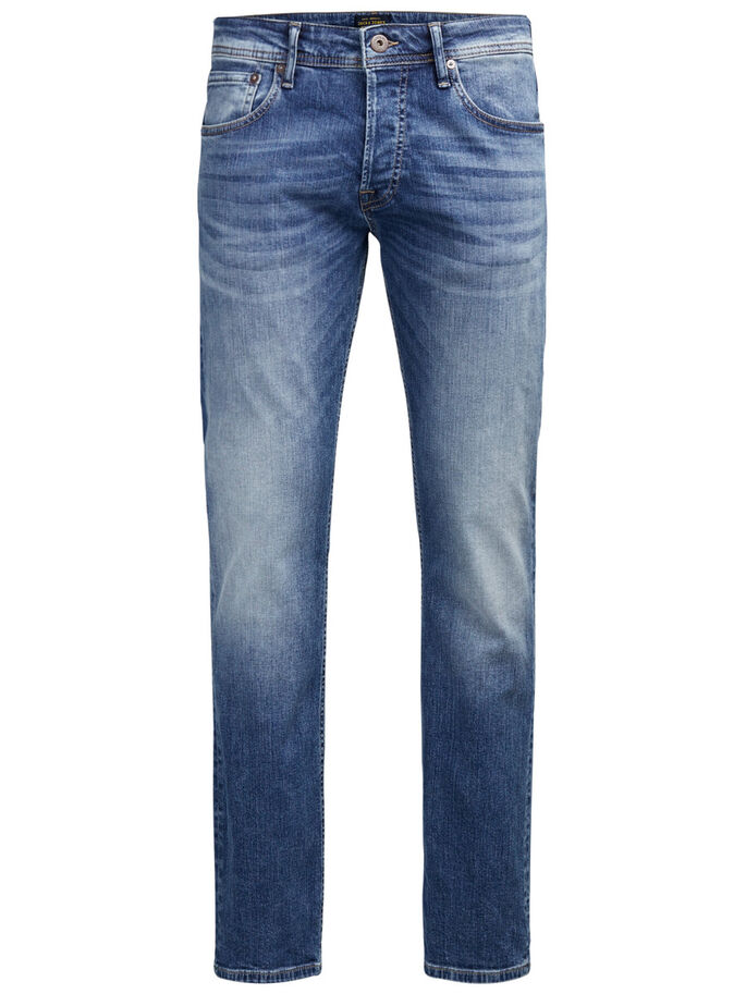 BLUE DENIM REGULAR FIT JEANS, Blue Denim, large