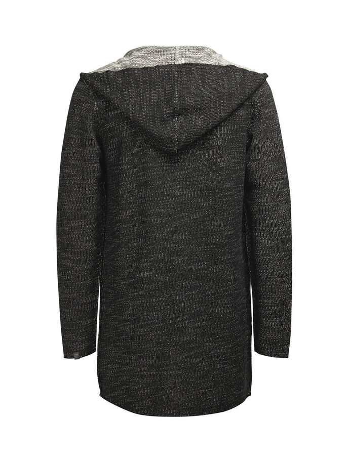 LOOSE FIT KNIT CARDIGAN, Black, large