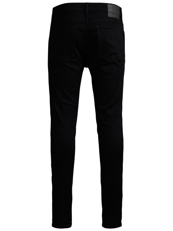 LIAM ORIGINAL AM 009 SKINNY FIT JEANS, Black Denim, large
