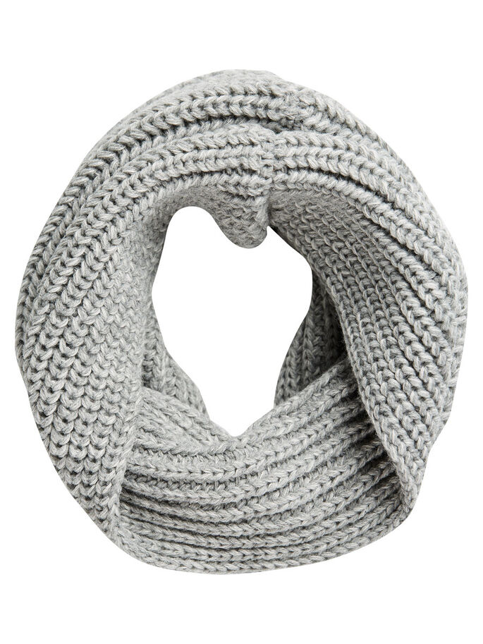 TUBE TUBE SCARF, Light Grey Melange, large