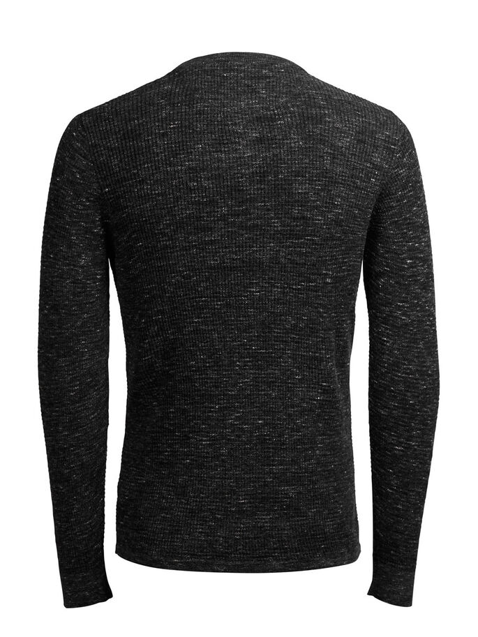 GRANDAD COLLAR PULLOVER, Dark Grey, large