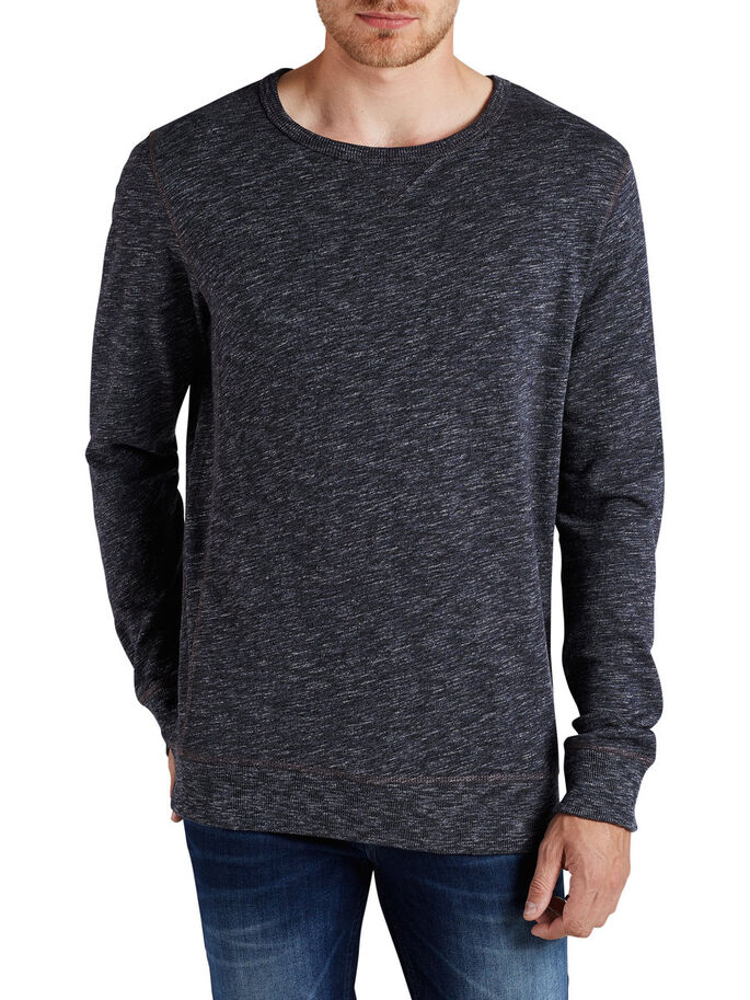 GEMÊLEERD SWEATSHIRT, Total Eclipse, large
