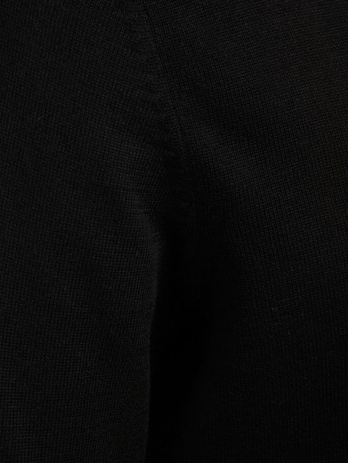 KLASSISKE STRIKKET PULLOVER, Black, large