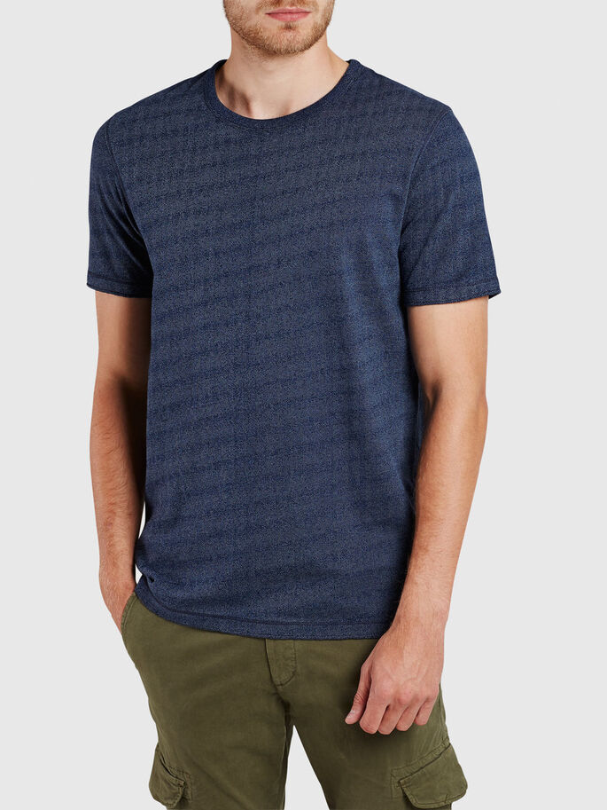 DETALJERET T-SHIRT, Mood Indigo, large