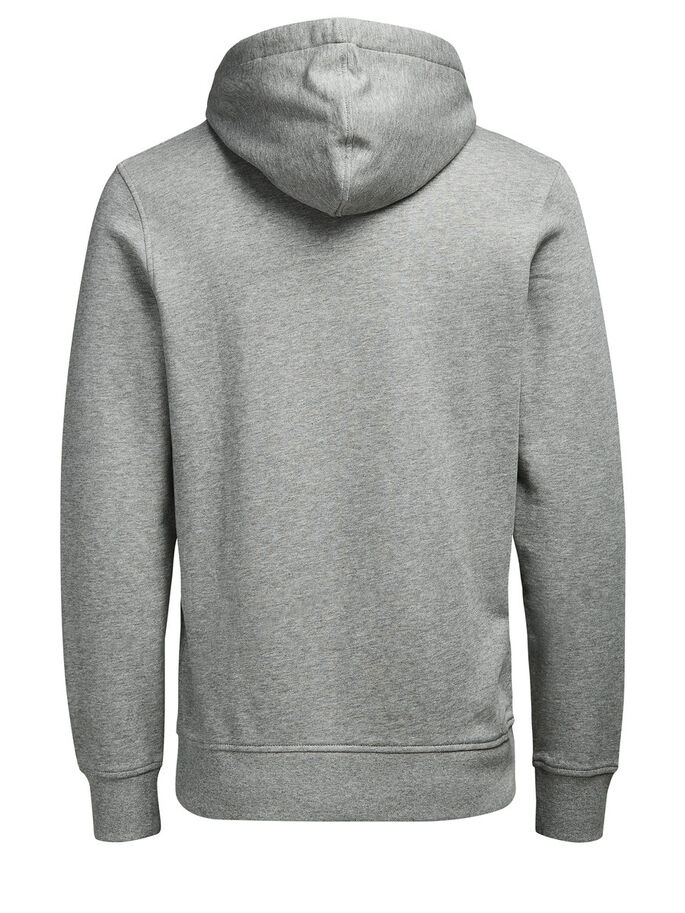 GRAFISK HOODIE, Light Grey Melange, large