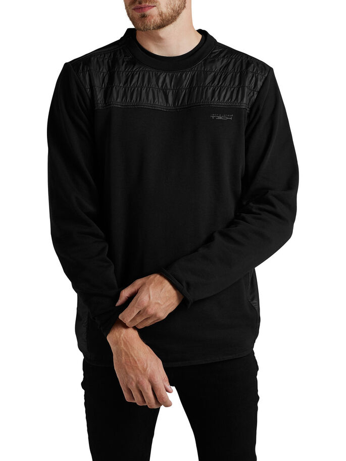 HYBRID SWEATSHIRT, Black, large