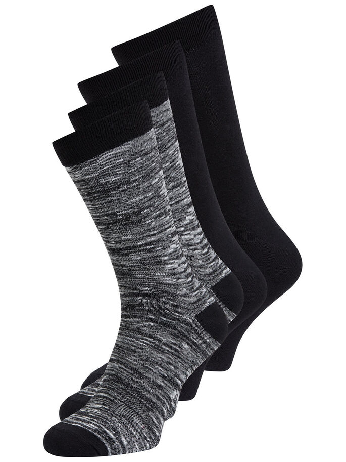 CLASSIC 4-PACK SOCKS, Black, large