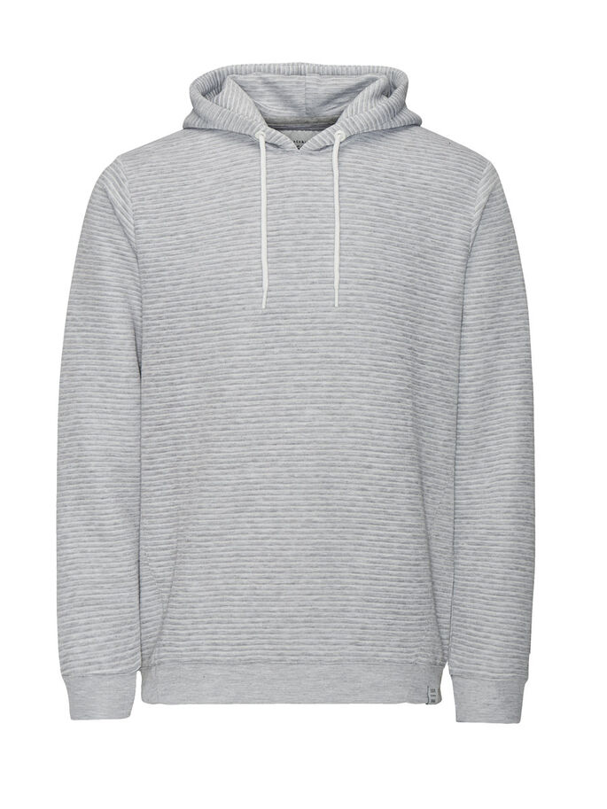 VERSATILE SWEAT HOODIE, Light Grey Melange, large