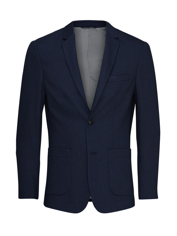 MOOIE SLIM FIT BLAZER, Dark Navy, large