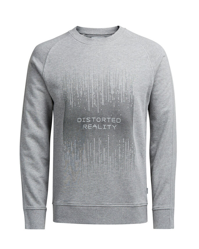 GRAFISCH SWEATSHIRT, Light Grey Melange, large