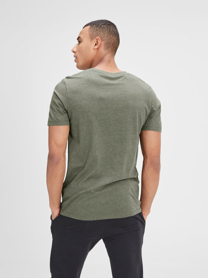 GRAFISK T-SKJORTE, Dusty Olive, large
