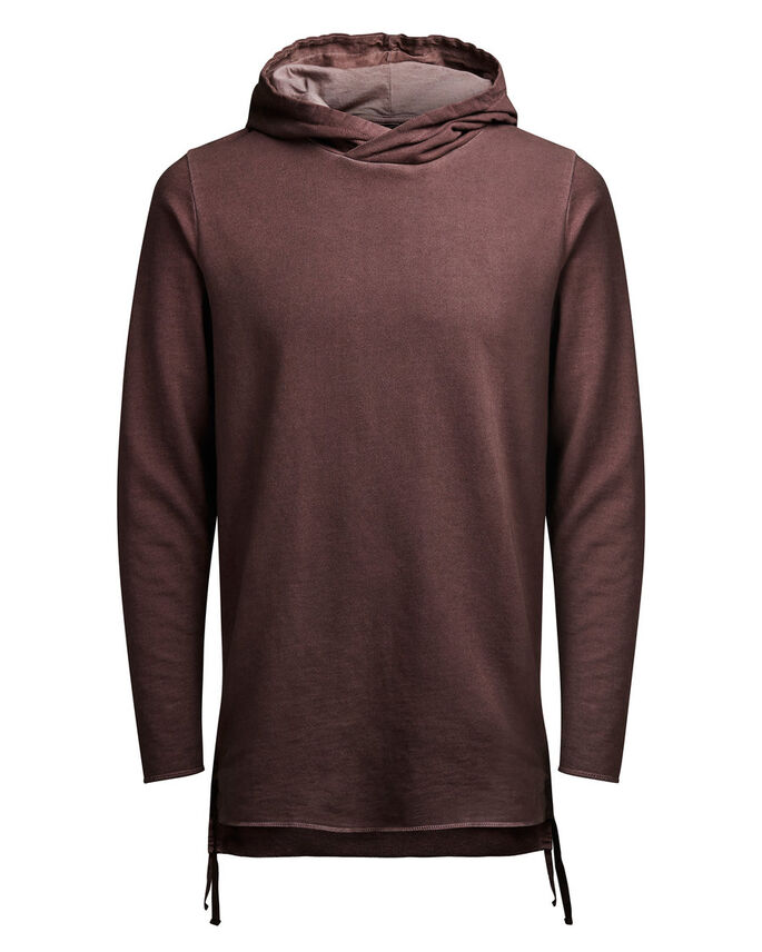 LONGER FIT HOODIE, Syrah, large