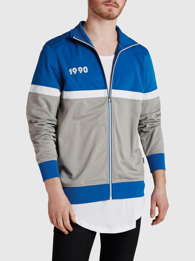 SPORTY ZIPPED SWEAT, Imperial Blue, large
