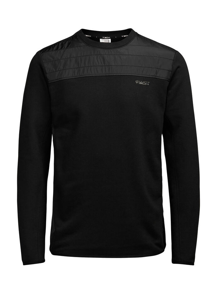 HYBRID- SWEATSHIRT, Black, large