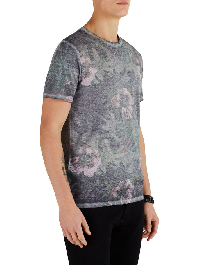CON EFFETTO SBIADITO T-SHIRT, Cloud Dancer, large