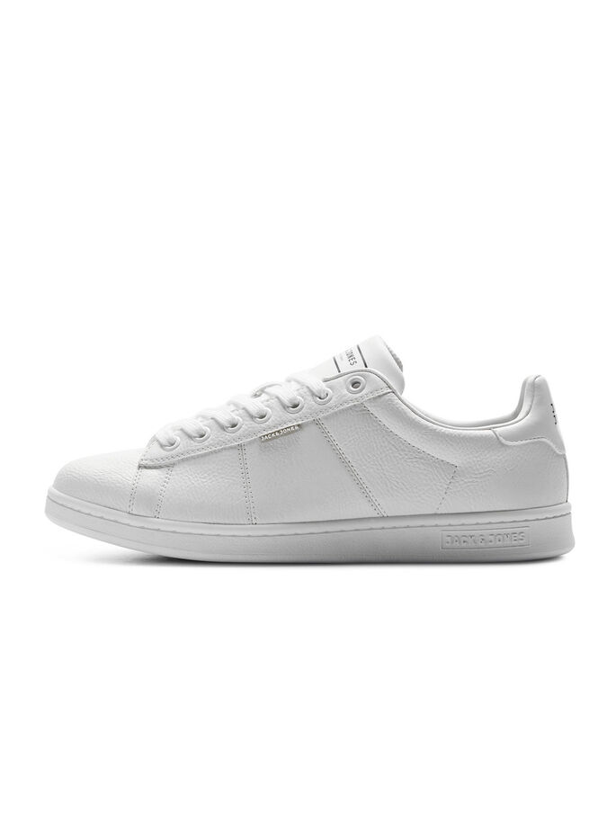 LÆDERLOOK SNEAKERS, Bright White, large