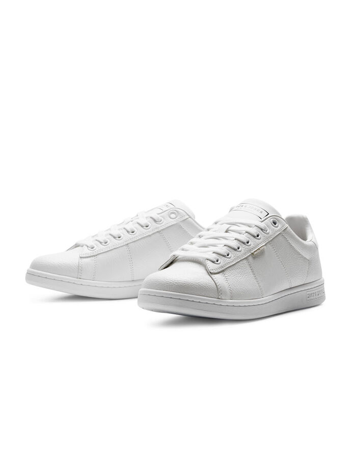 SIMILI CUIR BASKETS, Bright White, large
