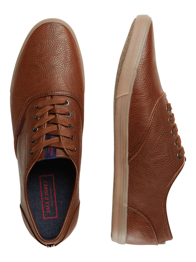 KLASSISKE SNEAKERS, Cognac, large